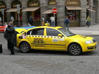 Taxi a Praga